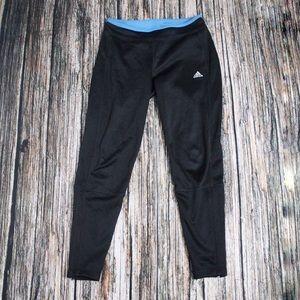 Adidas Black Fleece Lined Sweat Pants Size Small